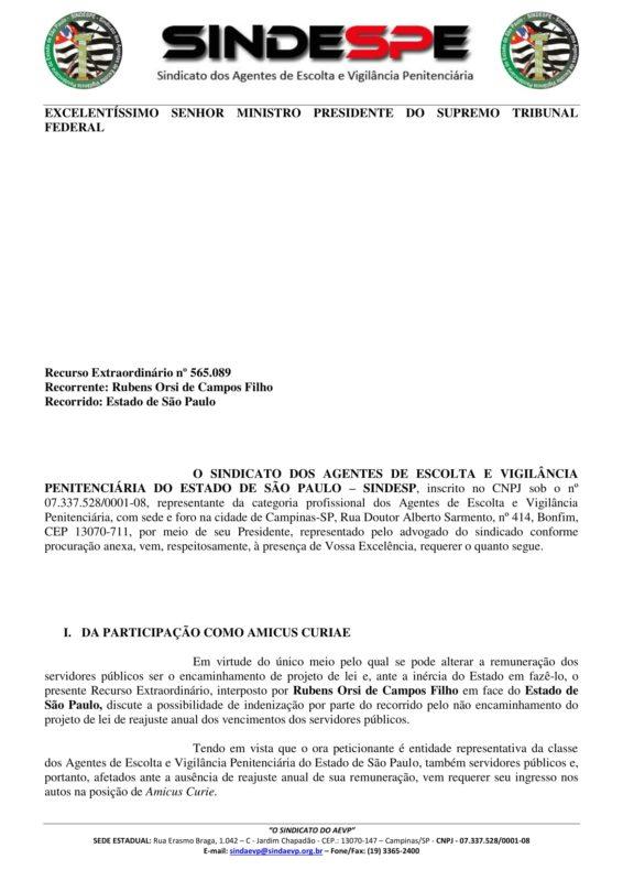 amicus curiae petição - Assinado-1