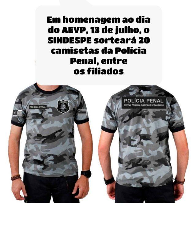 modelo camiseta policia penal
